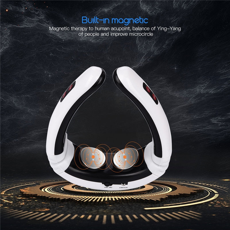 Electric Pulse Back and Neck Massager Far Infrared - nuyubodysculpting.myshopify.com
