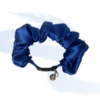 Cobalt Blue Scrunchie Cat Collar