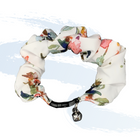 White Floral Scrunchie Cat Collar