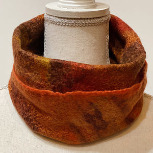 Autumn Fine Felt Cowl / Head-wrap