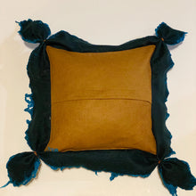 Load image into Gallery viewer, Fine Felt Textured Pillow - Teal Delight