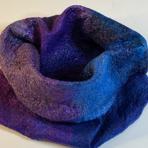 Fine Felted Jewel Tone Cowl / Headwrap