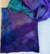 Load image into Gallery viewer, Fine Felted Jewel Tone Cowl / Headwrap