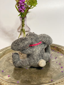 Needle Felted Bunny with Love - seeking a forever home<3