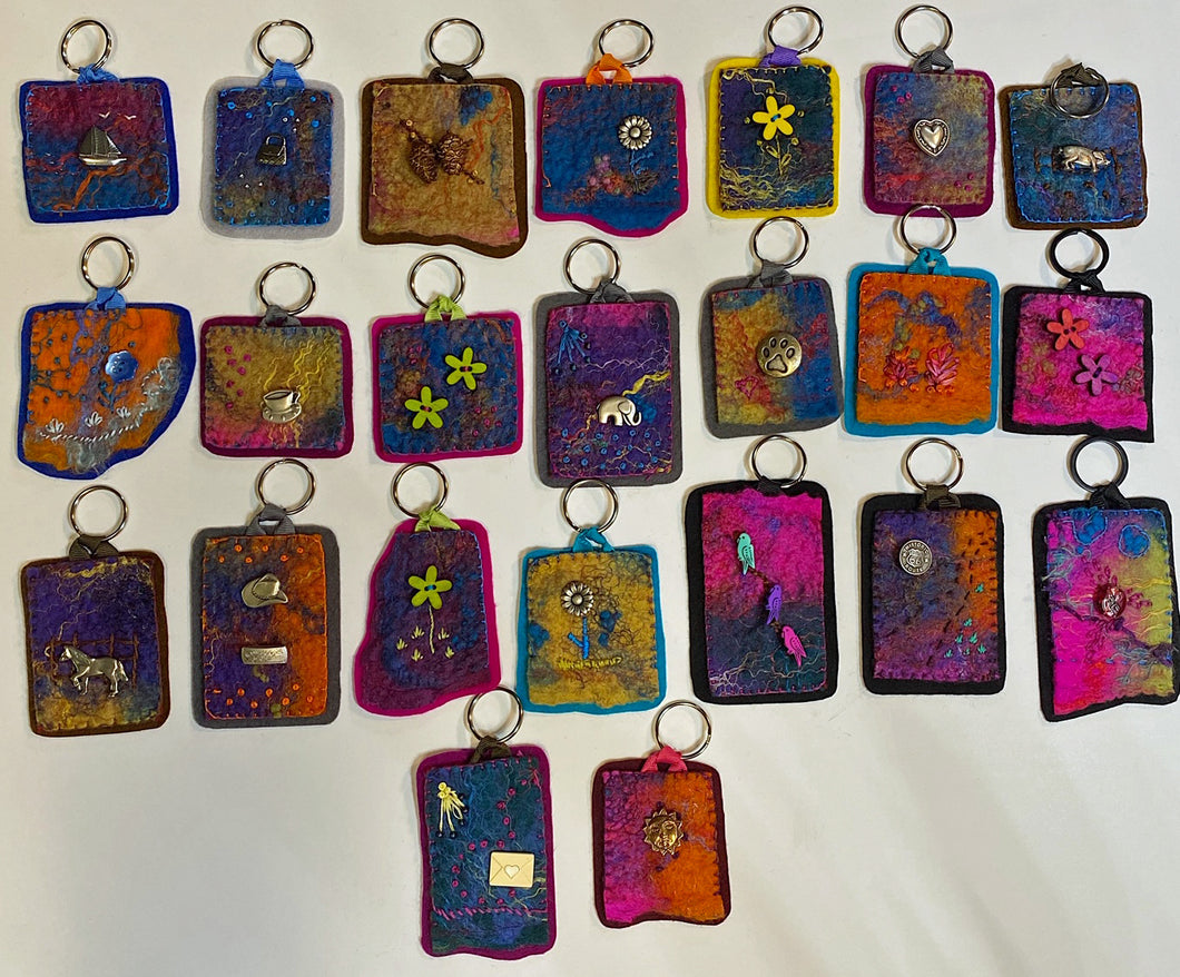 Felted Fabric Key Chains - Gifted