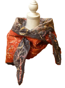 Reversible Fine Felt Wrap | Scarf - SOLD