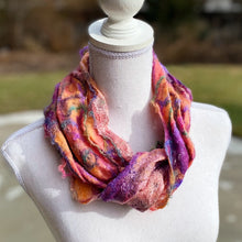 Load image into Gallery viewer, Fine Felt Art Yarn Scarf - Pastels