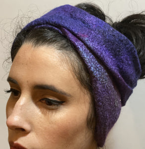 one view as the headwrap - so many versions of this inside out, layered and folded