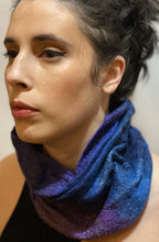 Load image into Gallery viewer, Worn as a cowl with viscose outside
