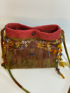 Earthy Boho Bag with Spun Locks