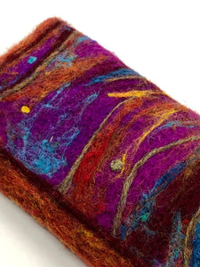 Needle felted eyeglass case - NFS