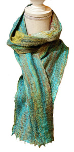 Helix Wet Felted Scarf