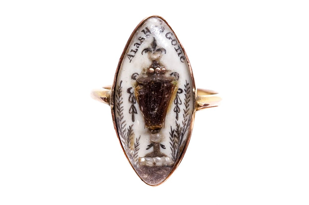 Georgian Sepia Mourning Ring