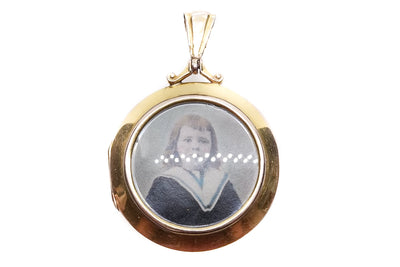 9k Gold Family Photo Locket