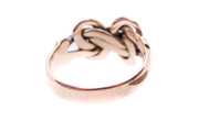 Lovers Knot Rose Gold Ring