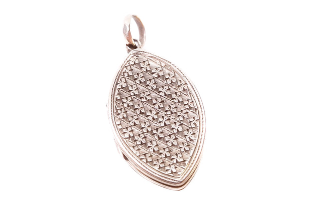 9k Gold Navette Shaped Locket