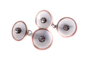 Chalcedony Diamond Cufflinks