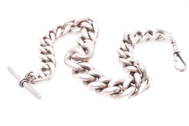 Heavy Sterling Silver Albert Chain