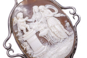 Silver Altar of Love Cameo Brooch