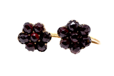 Bohemian Garnet Cluster Earrings