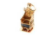 18k Gold Enamel Coronation Chair