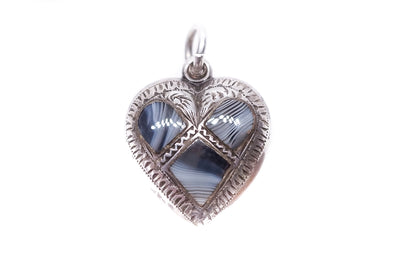 Scottish Silver Montrose Lace Heart Charm