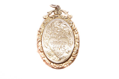 9k Gold Monogram Locket 'THM'