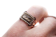 Seed Pearl Mourning Locket Ring