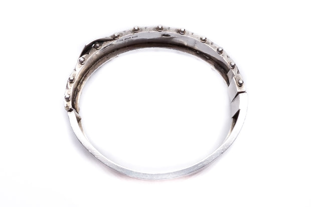 Sterling Silver Chunky Buckle Bangle