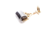 White and Yellow Gold Roller Charm