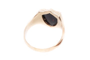 15k Gold Bloodstone Signet Ring