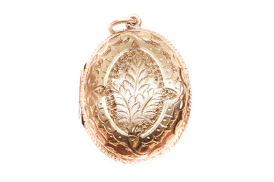 Antique 15k Gold Pteridomania Fern Locket
