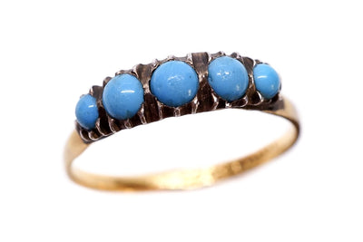 22k Gold and Silver Turquoise Ring