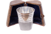 Novelty Just a Thimble Full Whiskey Tumbler and Box