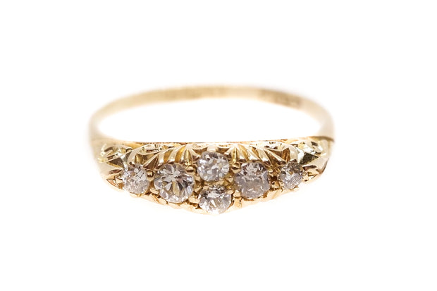 Edwardian Diamond Boat Ring