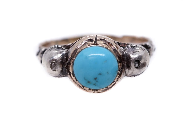 Early Georgian Turquoise and Diamond Ring