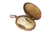 15k Gold Enamel and Pearl Horseshoe Locket
