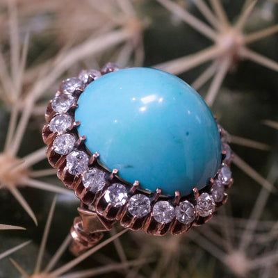 *Reserved* Turquoise Diamond Ring