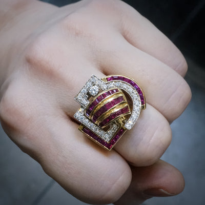 **Layaway Payment** Ruby Diamond Cocktail Ring
