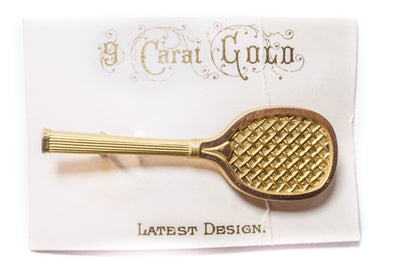 Antique Tennis Racket Pin
