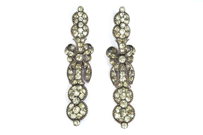 Spectacular Georgian Portuguese Chrysolite Pendeloque Earrings