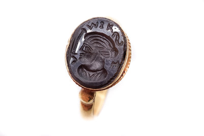 Ancient Hardstone Intaglio Signet Ring