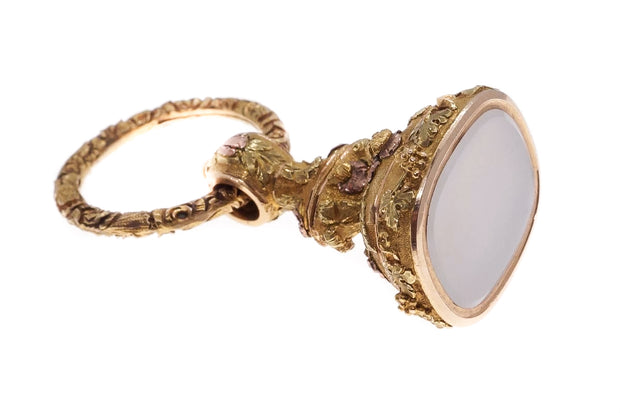 Regency 3 Color Gold Fob and Split Ring