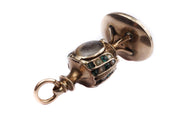 Emerald and Pearl Urn Locket Fob