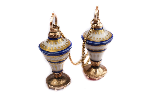 Georgian Porcelain Urn Fobs