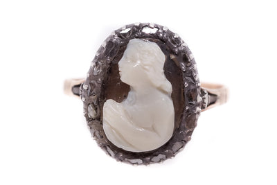 Georgian Mary Magdalene Cameo Ring
