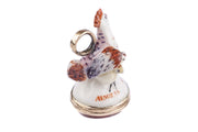 Chelsea Porcelain Mother Hen and Chicks Fob