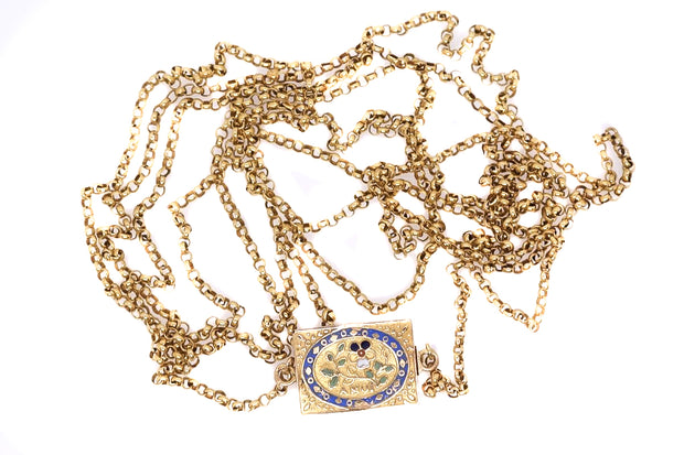 *Reserved* French Think of Me Enamel Chain