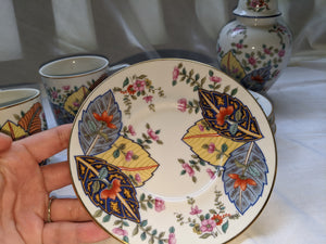 Vintage Tobacco Leaf Seymour Mann Japanese fine china made in Japan circa 1960s