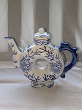 Load image into Gallery viewer, A circa mid 20th-century hand-painted blue and white teapot made in China